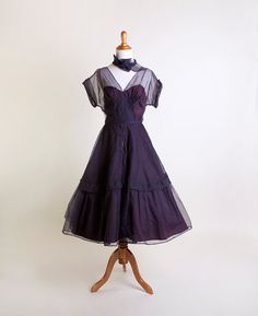Loving this vintage purple on Etsy... Vintage 1950s Dress  Don Miguel Sheer Pintuck Bombshell by zwzzy, $180.00
