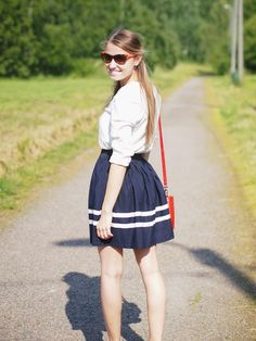 Summer preppy-outfit