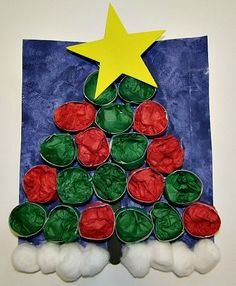 cardboard roll tree- use in place of advent calendar- take tissue paper out to reveal a prize