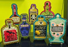 It's not your Grandmother's Needlepoint: Search results for poison bottles