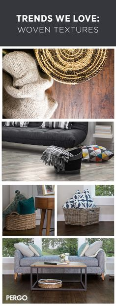A great way to add some rustic charm to your living room is to place a woven basket next to a couch or bookcase. The nice thing about this easy décor tip is that the baskets double as a place to store blankets and pillows. Let's not forget about pairing your baskets on a durable laminate floor - click to learn more about our laminate flooring options.