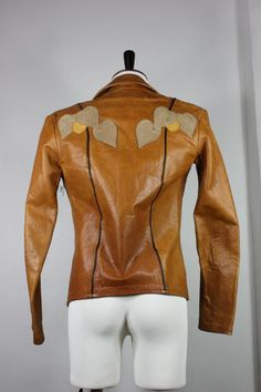 Vintage East West Musical Leather Jacket Small s Janti 60's 70's Handmade Vtg | eBay