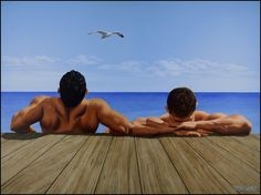"Steve Walker - ""Birds Eye View"" 2009 acrylic on canvas, X Canadian Painters, Canadian Artists, Art Gay, A Kind Of Magic, Walker Art, Imagines, Birds Eye View, Male Body, Canvas Prints"
