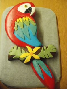 Parrot cake template Google Search Food Pinterest Cake
