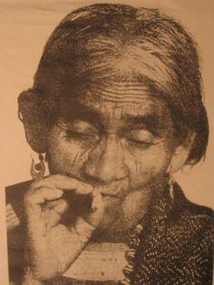 María Sabina smoking marijuana.