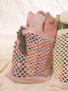 Market Bag. ☀CQ #crochet #bags #totes  http://www.pinterest.com/CoronaQueen/crochet-bags-totes-purses-cases-etc-corona/