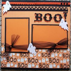 halloween scrapbook layouts
