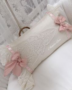 Best 12 Silk and lace cushion. Shabby Chic Cushions, Shabby Chic Curtains, Diy Pillows, How To Make Pillows, Bed Cover Design, Cushion Embroidery, Bathroom Towel Decor, Shabby Chic Mirror, Shabby Chic Homes