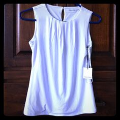 Calvin Klein white tank top Brand new and great with a blazer or sweater Calvin Klein Tops Tank Tops