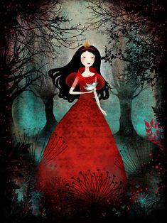"""Anne-Julie Aubry's """"Enchanted Forest"""" Snow White-inspired red dress"""