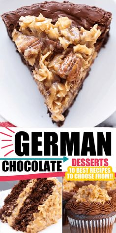 German Chocolate Dessert Recipes Keto Cookie Dough, Keto Cookies, Healthy Cookies, Bar Cookies, German Chocolate Brownies, Chocolate Desserts, Cake Recipes, Dessert Recipes, Good Food