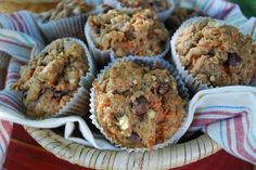 Chocolate Chip Carrot Muffins