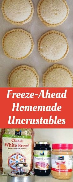 Uncrustables (Update Perfect for back to school! This healthy version takes a few minutes to make and they freeze perfectly!Perfect for back to school! This healthy version takes a few minutes to make and they freeze perfectly! Freezer Cooking, Freezer Meals, Thai Cooking, Cooking Rice, Greek Cooking, Cooking Bacon, Easy Cooking, Healthy Cooking, Lunch Snacks