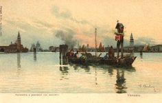 Venezia - Panorama e Pescatori con Capitello - autore : Arulin