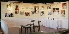 Photo gallery display at trade show.