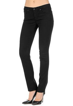 AG Jeans Official Store, The Stella - Super Black, super black, Women's the Stella, CTL1526 - SIZE 29