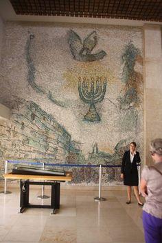 Le hall Chagall à la Knesset