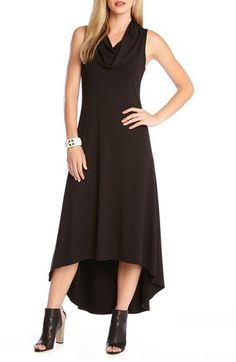 Karen Kane 'Katie' Cowl Neck High/Low Maxi Dress available at #Nordstrom