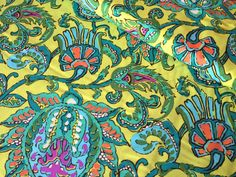 Amy Butler quilting fabric Soul Blossom -Dancing Paisley-Lime