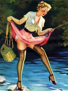 Vintage Pin Up by Arnold Armitage