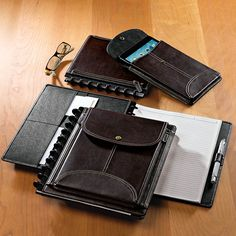 LevTex Zip-Off Pocket Foldover: A thoughtfully designed notebook with a convenient detachable sleeve for smartphone or mini tablet.