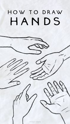 How to Draw Hands: Easy Simple Tutorial Learn To Draw, How To Draw Hands, Hand Outline, Hands Tutorial, Simple Line Drawings, Hand Drawings, Drawing Tips, Drawing Ideas, Step By Step Drawing