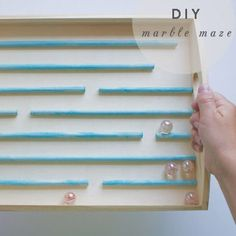Marble Maze - make with wooden tray & dowels