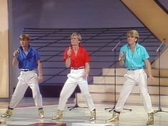 "Herreys, or Herrey's, is a Swedish pop group, consisting of the three Mormon brothers: Per Herrey, Richard Herrey and Louis Herrey. They won the Eurovision Song Contest 1984 with the song ""Diggi-Loo Diggi-Ley"". O Tv, Concert Hall, Pop Group, Childhood Memories, Nostalgia, Singer, Film, 1984, Dancers"