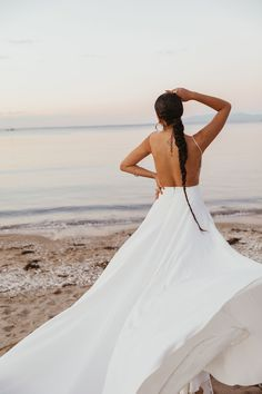 #sponsored The Brand New Lovers Society Tulum Collection Takes Us On Vacay #weddinghairideas #bride #weddingdress #beachwedding Wedding Hairstyles For Long Hair, Wedding Hair And Makeup, Hair Makeup, Wedding Braids, Tulum, Oasis, One Shoulder Wedding Dress, Lovers, Brand New