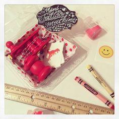 Classic finish fire engine Red Handmade Mini Tattoo Machine!