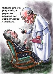BROMAS: Fidel castro y el papa Francisco Fidel Castro, Papa Francisco, The Row, Religion, Princess Zelda, Cartoon, Baseball Cards, Fictional Characters, Medium