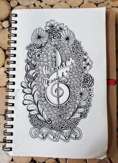 Hump Day Zentangle® Challenge – Listen to the Music Edition Start High School, All Girls School, School Fun, Tangled Flower, William College, Creation Myth, Metal Bands, Zentangle, Two By Two
