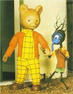 Rupert the bear puppet animation the weird blue thing frightened me, I didn't know what it was, oops. 1970s Childhood, My Childhood Memories, 80s Kids, Kids Tv, Classic Theme, Classic Tv, Theme Tunes, Nostalgic Images, Retro Toys