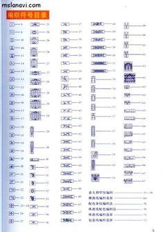 Обозначения к японским схемам вязания. / Вязание спицами / Вязание для женщин спицами. Схемы