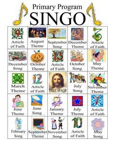 Camille's Primary Ideas: Primary Program Singo