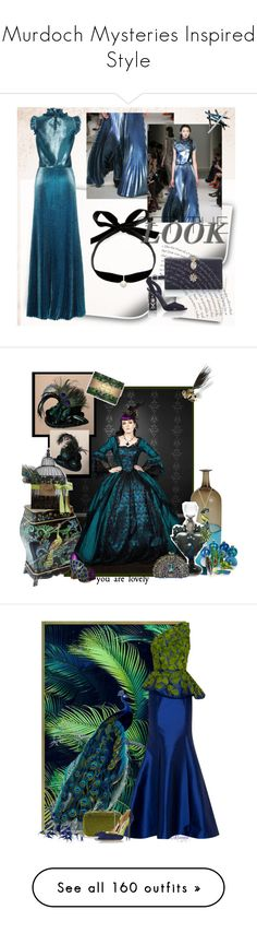 """""""Murdoch Mysteries Inspired Style"""" by yours-styling-best-friend ❤ liked on Polyvore featuring Styli-Style, Prom, dreamydresses, Venini, Irregular Choice, Shameless, steampunk peacock, Andrew Gn, Judith Leiber and Oscar de la Renta"""