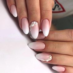 Która z Was chciałaby takie paznokcie do ślubu? 💍👰🏻💅🏻 ——… Which one of you would like such nails for the wedding? 💍👰🏻💅🏻 — A reliable color babyboomer can not speak french —- Indigo Nails Lab … Weding Nails, Wedding Day Nails, Wedding Nails Design, Bride Nails, Simple Wedding Nails, Wedding Acrylic Nails, French Nails, Bridal Nail Art, Indigo Nails