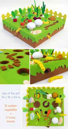 Felt Food Peas Eco friendly children's Felt play food for