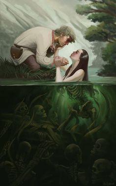 Best Mythology Water Poland-based River Art images on Designspiration Monster Concept Art, Monster Art, Arte Horror, Horror Art, Dark Fantasy Art, Fantasy Artwork, Fantasy Concept Art, Arte Obscura, Mermaid Art