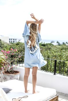 Dress: ohh couture, blogger, blue dress, beach dress, light blue, backless dress, cute dress, romantic summer dress - Wheretoget