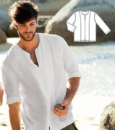 Free delivery/ /Man white groom linen shirt beach wedding party special occasion birthday summer on Etsy, $69.00