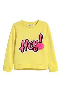 Bluza - Jaskrawożółty/Hey - Dziecko | H&M PL