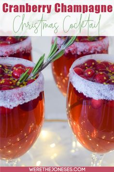 Best Christmas Cocktails, Festive Cocktails, Holiday Drinks, Fun Drinks, Holiday Recipes, Party Drinks, Mixed Drinks, Holiday Gifts, Alcoholic Drinks