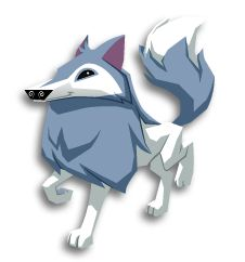 Animal Jam's Member wide famous artic wolf