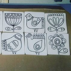 Fun patterns for embroidery Ceramic Painting, Fabric Painting, Ceramic Art, Madhubani Painting, Motif Floral, Art Plastique, Mosaic Art, Indian Art, Doodle Art