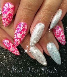 Magpie glitter Angel neon pigments pointy acrylics