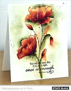 "Visit the Penny Black blog for a full photo tutorial on creating this card by Micheline ""Mimi"" Jourdain"