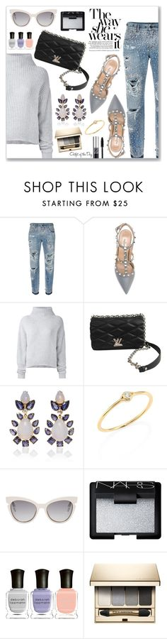 """""""Outfit of the Day"""" by dressedbyrose ❤ liked on Polyvore featuring Dolce&Gabbana, Valentino, Le Kasha, Louis Vuitton, Bounkit, Sydney Evan, Fendi, NARS Cosmetics, Deborah Lippmann and Clarins"""