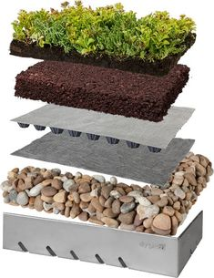 Our specialised green roof build up has proven its worth with years of successful green roof installations.