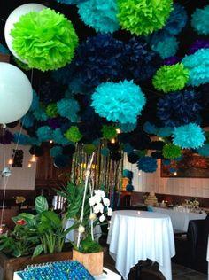 Etsy の 5pcs 15 Tissue Paper Pom Poms Flower Wedding by Craftmusou